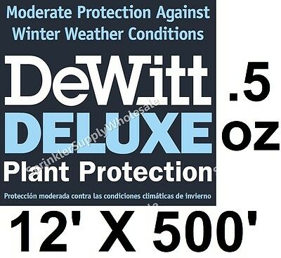 DeWitt Deluxe 12' X 500' .5 oz Frost Freeze Cloth Germination Blanket Deluxe12-5