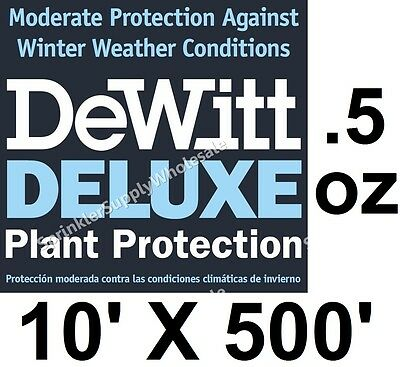 DeWitt Deluxe 10' X 500' .5 oz Frost Cloth Freeze Protection Blanket Deluxe10