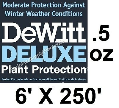 DeWitt Deluxe 6' X 250' .5 oz Frost Freeze Cloth Germination Blanket Deluxe6