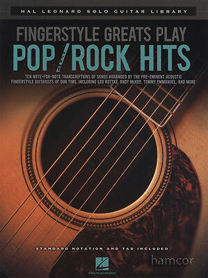Fingerstyle Greats Play Pop/Rock Hits Solo Guitar TAB Music Book