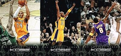 Lot de 3 Cartes cards basket NBA Panini 2012 Anthology Kobe BRYANT