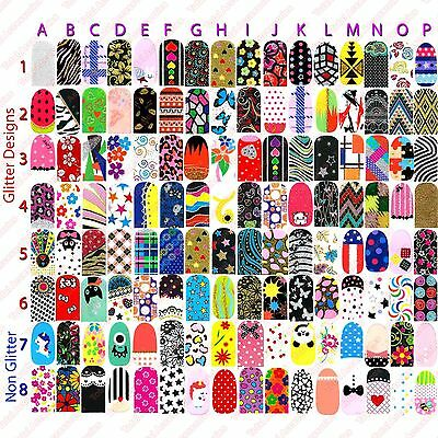NAIL WRAPS STICKERS - Full Self Adhesive Polish Foils Decoration Art Decals -NEW