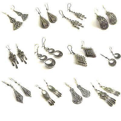 Lot 12 Pairs Of Earrings 925 Sterling silver Filigree Ethnic Artisan 50% off