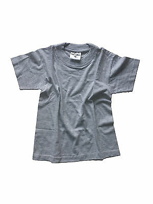 Infants Kids Girls Boys 2 Pack Crew Neck Plain T Shirts Top Ages 3 - 5 Years Old