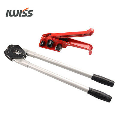 IWISS Manual strapping tools for 3/4'',5/8'',1/2'' PP/PET straps with tensioner