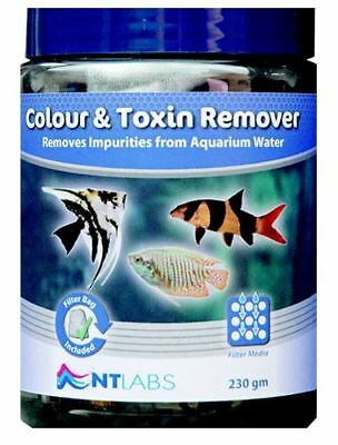 NT Labs Colour & Toxin Remover 230g - Carbon For Tropical Aquarium Fish Tank