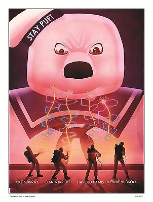 Ghostbusters Angry Stay Puft Movie Poster Art Print by Matt Ferguson (MSP 0012)