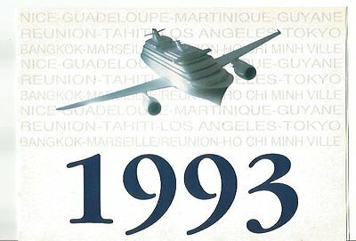 Document Aviation  Voeux 1993 Compagnie Aom