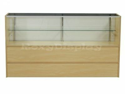 """CA 70"""" Half Vision Maple Showcase Display Store Fixture Wood Knocked Down #SCH6M"""