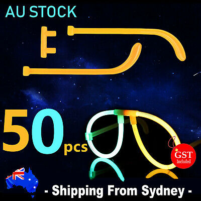 25X Multi Colour Glow Sticks Glasses Light Shining Party Fun toy Glow In The Dar