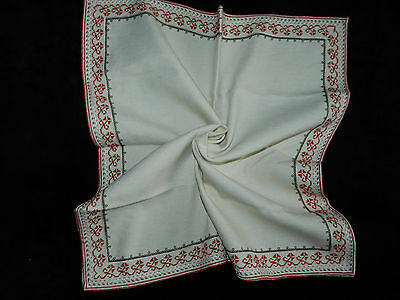 """vintage hand embroidered tablecloth  Dimensions 25""""/23.5""""   n4969"""