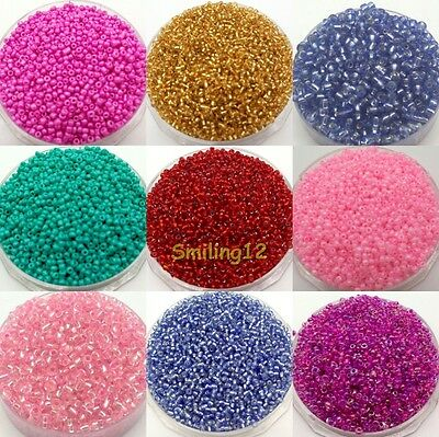 1000pcsDIY Bead Cezch Glass Seed Beads Jewelry Finding Spacer Beads Solid Color