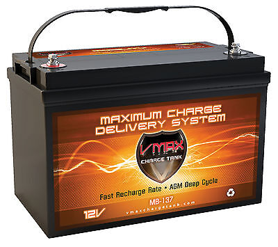 Vmax Kenworth Mb137 1700A Agm Deep Cycle Battery