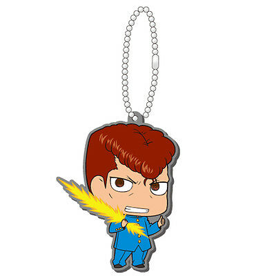 Yu Yu Hakusho Kuwabara Rubber Key Chain Anime Manga Licensed MINT