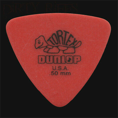Dunlop Tortex Triangle Guitar Picks Plectrums 0.50mm Red - 6 10 12 20 24 or 36