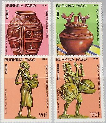 BURKINA FASO 1985 1050-53 739-42 Artifacts Kunst Art Handicrafts Statue MNH