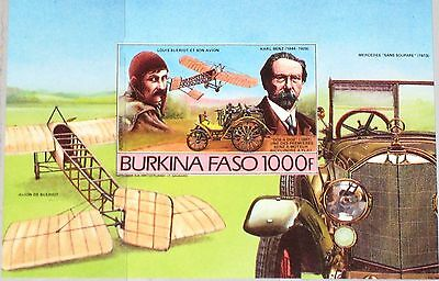 BURKINA FASO 1985 Block 102 B 716 Vintage Cars Aircrafts Autos Flugzeuge MNH