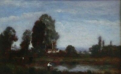 Camille Jean-Baptiste COROT ? - Fischer am See