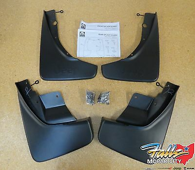 2011-2017 Jeep Grand Cherokee Deluxe Front & Rear Molded Splash Guards Mud Flaps