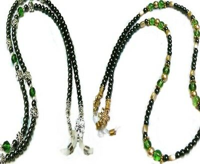 Reading glasses, Sunglasses, spectacle chain lanyard - Emerald GREEN Collection