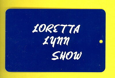 Loretta Lynn 1979 crew only luggage tag from tour
