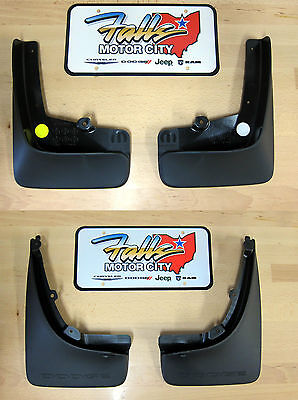 2013-2014 Dodge Dart Front Rear Deluxe Molded Splash Guards Mud Flaps Mopar OEM