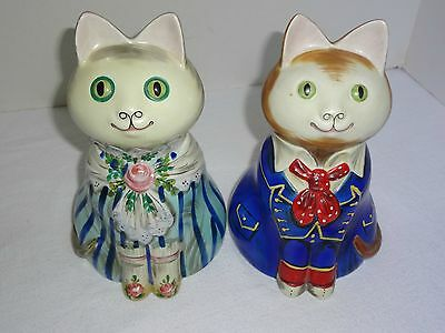Charming Cat Couple - Vintage 70s - Mottahedeh