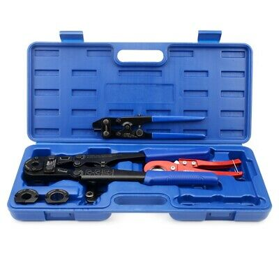 "IWISS F1807 Pex Pipe Crimping Tool with 3/8,1/2,3/4,1"" for Free Cutter&Removal"