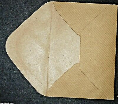 "Brown Kraft envelopes 110mm x 75mm - 4.5"" x 3"" - gummed flap - Wedding - Gift"