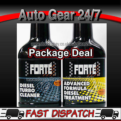 Forte Advanced Formula Car Van Diesel Fuel Treatment & Diesel Turbo Cleaner Pack