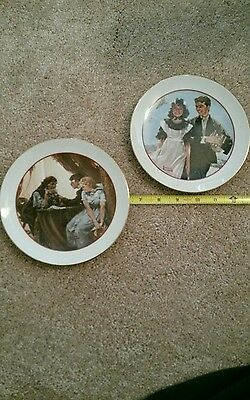 2 'YOUNG LOVE' COLLECTOR PLATES BY NORMAN ROCKWELL - 1982 JAPAN-SPECIAL EDITIONS