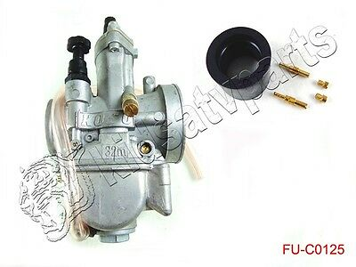 New KOSO Carburetor 2 Stroke 32mm Racing Flat Side Part Carb