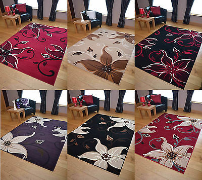 Palace Modern Lily Soft Small Extra Large Floor Rugs Mats Carpets Runners Cheap