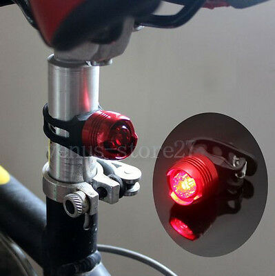Red Bike Bicycle Red LED Rear Light 3 modes Waterproof Tail Lamp Quick Release
