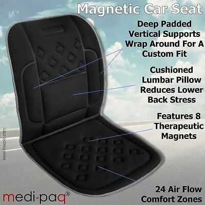CAR TRAVEL HOME Magnetic Lumbar Support Seat CUSHION *Backache Lower Back PAIN*