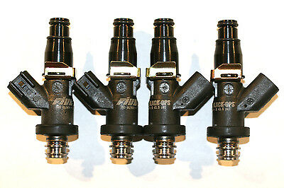 4 HONDA Fuel Injectors BLACK-OPS Stainless Steel 1000cc 95lbs MATCHED E85 E100