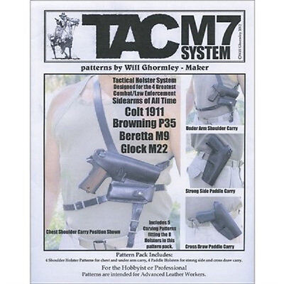 TAC M7 TACTICAL HOLSTER SYSTEMS  -  LEATHER PATTERN PACK  -  FREE SHIPPING!