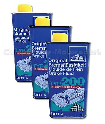 ATE Super Racing Brake Fluid DOT 4 (3x1Litre)* Special Offer * NEXT DAY DELIVERY