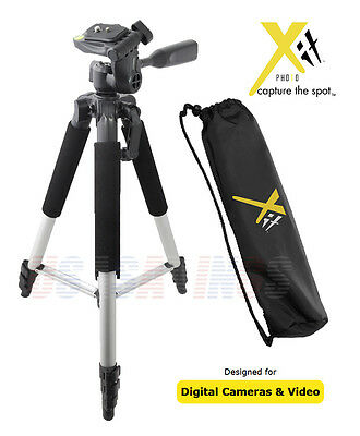 """57"""" PROFESSIONAL TRIPOD Xit STYLE  FOR CAMERAS and CAMCORDERS"""