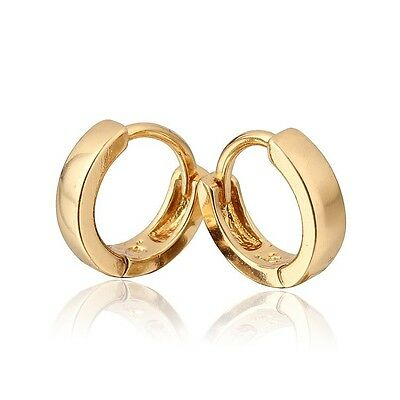 18 k Gold Plated Jewellery Small Baby Girls Hoops Earrings E527