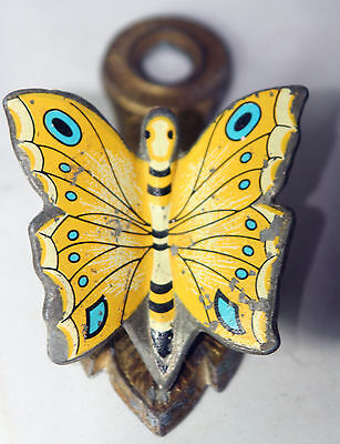 RARE ANTIQUE~~very pretty BUTTERFLY clamp~~sewing figural