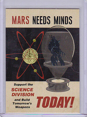 2013 Topps Mars Attacks Invasion Join The Fight Chase Parallel Mars Needs Minds