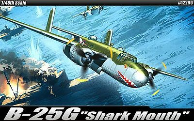 Academy 1/48 B-25G MITCHELL SHARK MOUTH(CANNON NOSE/AC12290) + CANOPY MASK SEAL