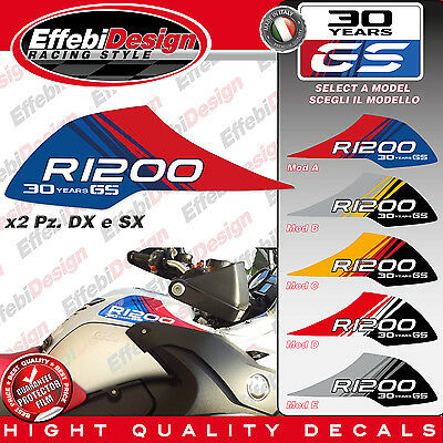 Adesivi/Stickers serbatoio tank BMW 30 YEARS GS MOTORRAD R 1200 1150 ADVENTURE