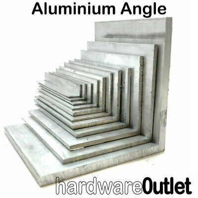 Aluminium Extruded Angle - Various Sizes - 300mm - 800mm long