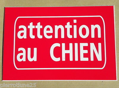 plaque gravée ATTENTION AU CHIEN PLAQUE SIGNALETIQUE Format 50 x 75 mm