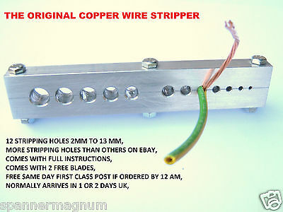 Copper Wire Stripper,FREE UK POST,Stripping Tool,2mm To 13mm Cable,Wire,Recycle,