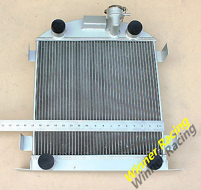 56MM 2ROWS aluminum radiator Ford Lowboy chopped w/flathead V8 engine 1932-1939