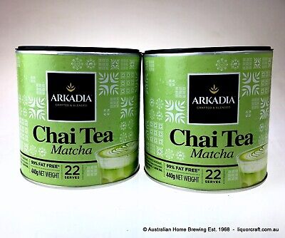 Arkadia Matcha Green Tea Latte 440g x 2 chai green chai latte powder