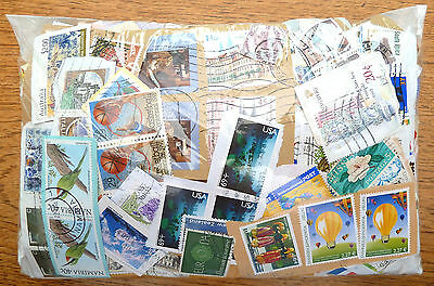 WORLDWIDE STAMPS on Paper Wholesale Approx 300 gms Unsorted SEE BELOW BN 277
